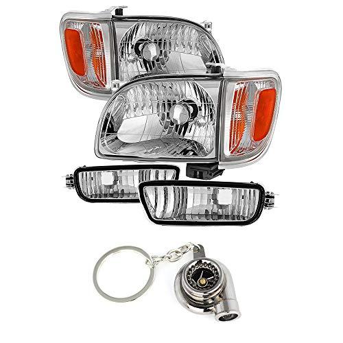- for Toyota Tacoma Crystal Headlights W/Amber Corner & Side Marker Lights 6pcs