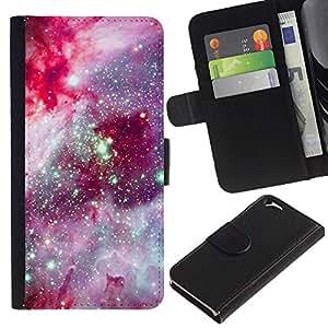 iBinBang / Flip Funda de Cuero Case Cover - Púrpura Rosa Cielo Nocturno - Apple Iphone 6 4.7