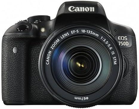 Canon EOS 750D - Cámara digital (24.2 MP, 19 puntos AF, CMOS ...