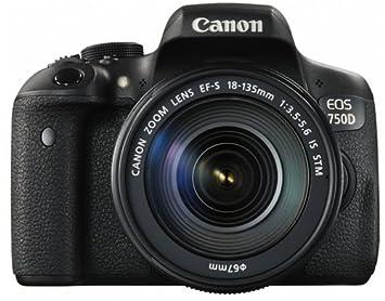 Canon EOS 750D - Cámara digital (24.2 MP, 19 puntos AF, CMOS, 5 ...