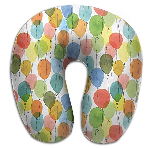 Laurel Neck Pillow Balloon Color Drawing Travel U-Shaped