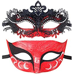 One Pair Couples Half Wedding Venetian Masquerades Masks Party Costumes Accessory