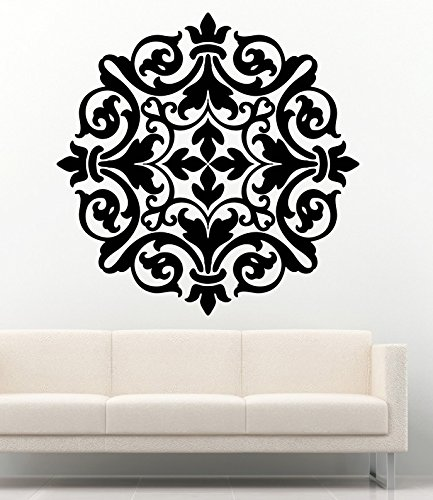 Wallpaper Baroque - Damask Wall Decals Baroque Wallpaper Interior Vinyl Decor Stickers MK0775