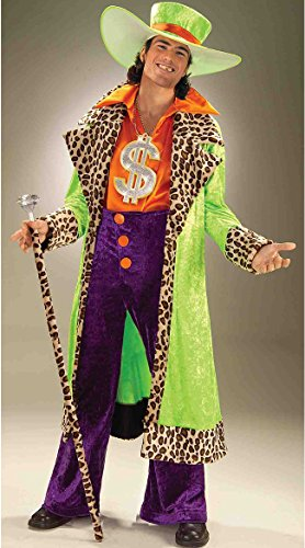 Forum Novelties Men's Big Daddy Pimp Costume, Multicolor, Standard