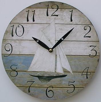 orologio da parete design rustica vintage veliero orologio per cucina o salotto nuovo