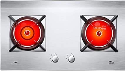 Placa de Cocina de Gas, Cocina de 2 quemadores de Gas Natural ...