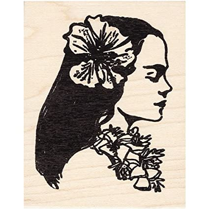 Amazon Hawaiian Girl Rubber Stamp Hawaii Arts Crafts Sewing