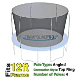 Trampoline Replacement Nets for Top Ring Models | Sizes 12 ft - 14 ft - 15 ft | Net Only | Poles Not Included | Top Ring Not Included (12 ft Net for 4 Pole Top Ring)