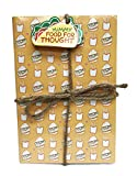 Yummy Food for Thought Foodie Themed 3 Pack Lined Paged Novelty Journal Notebooks 8.5'' x 5.75''