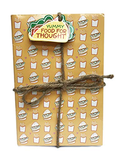 Yummy Food for Thought Foodie Themed 3 Pack Lined Paged Novelty Journal Notebooks 8.5'' x 5.75'' by Molly & Rex (Image #2)