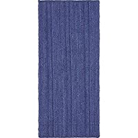 Unique Loom Braided Jute Collection Navy Blue 3 x 6 Runner Area Rug (2 6 x 6)