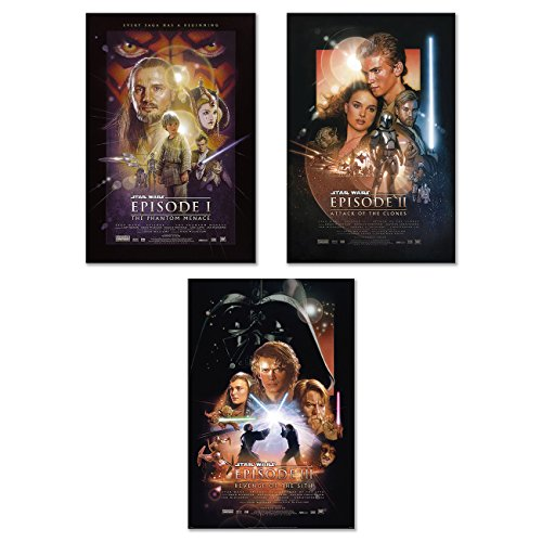 - Star Wars: Episode I, II & III - Movie Poster / Print Set (3 Individual Full Size Movie Posters) (Size: 24