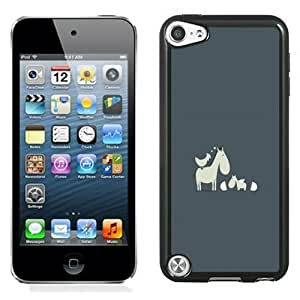New Personalized Custom Designed For iPod Touch 5th Phone Case For Cute Cartoon Horses and Bird Phone Case Cover