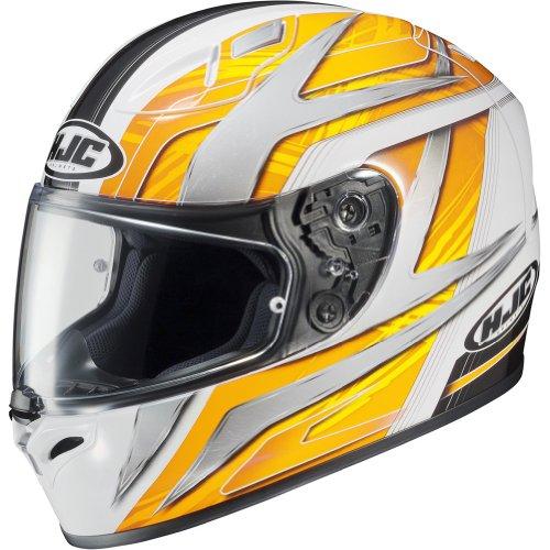 HJC Ace Men's FG-17 Sports Bike Racing Motorcycle Helmet - MC-3 / X-Large (Mc3 Motorcycle Helmet)