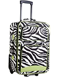 Ever Moda Green Zebra 20-inch Expandable Carry On Rolling Luggage