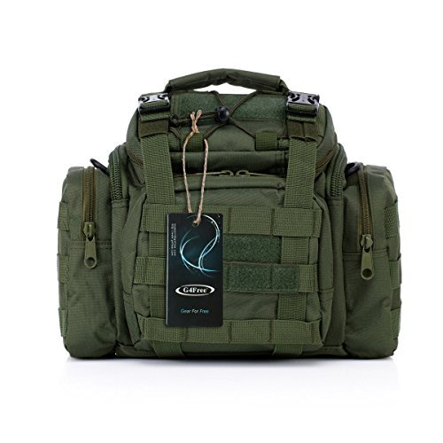 G4Free Sport Outdoor Travel Waist Pack Hiking Fanny Pack Tactical bag Camera Bag (Green) (Tactical Camera)