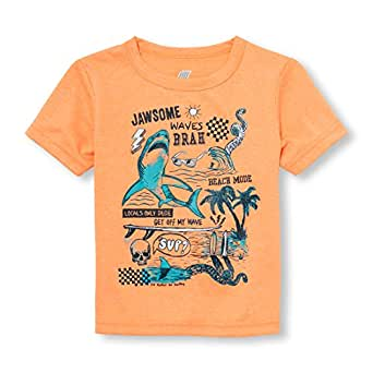 The Children's Place Baby Boys Short Sleeve Graphic Tee, Acapulco Sun Neon 97425, 5T
