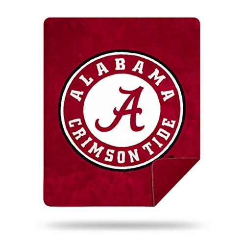 Alabama Crimson Tide Plush Throw - Officially Licensed NCAA Alabama Crimson Tide Denali Silver Knit Throw Blanket, Red, 60