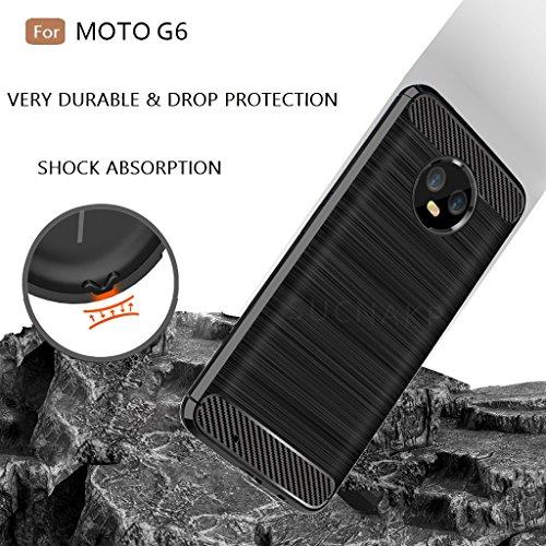 Moto G6 Case, Moto G (6th Generation) Case, Sucnakp TPU Shock Absorption Technology Raised Bezels Protective Case Cover for Motorola Moto G6 5.7 Inch(Black)