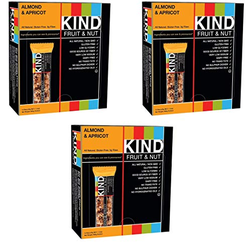 KIND Bars, Almond and Apricot, Gluten Free, 1.4oz, 36 Bars by KIND (Image #1)