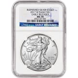 #6: 2017 W American Silver Eagle Burnished (1 oz) Early Releases $1 MS70 NGC