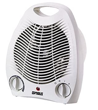 fan heater. optimus h-1321 portable 2 speed fan heater with thermostat