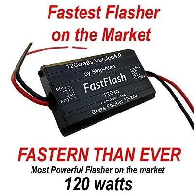 Stop-Alert FastFlash 120w brake flasher signal blinking lights modulator third flashing strobe controller dynamic module for Incandescent & Led, Preprogrammed 3 Patterns for motorcycles, cars & trucks: Automotive