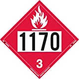 Labelmaster ZEZ21170 UN 1170 Flammable Liquid Hazmat Placard, E-Z Removable Vinyl (Pack of 25)