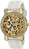 XOXO Women's XO8059 Rhinestones Accent White Silicone Strap Watch