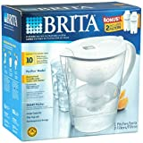 Brita Pacifica Smart Pitcher Water Filtration System with 2 Bonus Filters and 2 Bonus 24oz Nalgene On The Go TRITAN Bottles