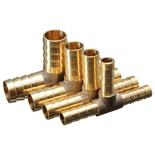Alamor 6mm 8mm 10mm 12mm Lat/ón T Pieza De 3 V/ías De Combustible Manguera De Combustible Conector Para Aire Petr/óleo Gas-8mm