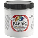 Speedball Art Products Fabric Screen Printing Ink, 8-Ounce, White