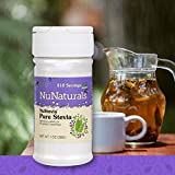 NuNaturals Pure White Stevia Extract Powder All Purpose Natural Sweetener, Sugar-Free, Zero Calorie (1 oz)