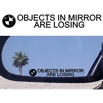 Amazon Com 2 Mirror Decals Quot Objects In Mirror Are