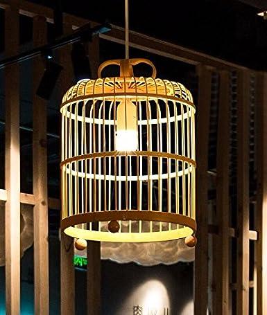 SKGYR LOFT Lámpara Colgante Japonés Chino De Madera En Forma De ...