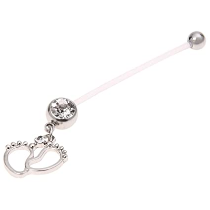 Amazon Com Belly Bar Piercing Ring Toogoo R Flexible Pregnancy