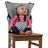 Cozy Cover Easy Seat Portable High Chair (Chevron) - Quick, Easy, Convenient Cloth Travel High Chair Fits in Your Hand Bag For a Happier, Safer Infant/Toddler