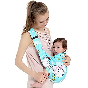 BOSSXIN Baby Wrap Infant Soft Child Carrier Water Sling for Warm Weather, Lightweight, Quick Dry and Breathable(Color Cotton)