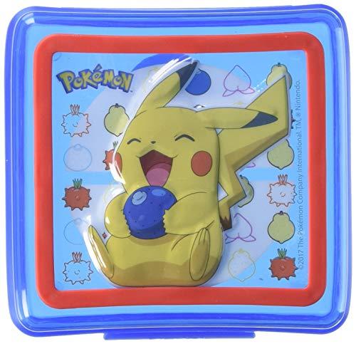 Zak POKD0400 Pokemon Embossed Sandwich Container, Multicolor -