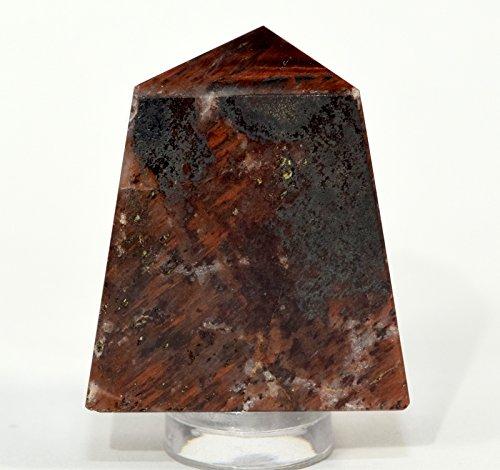 205ct 34mm Natural Red Tiger's Eye Point Polished Crystal Chatoyant Quartz Mineral Dragon's Eye Gemstone Specimen - Africa