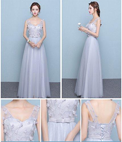 Bridesmaid Butterfly Long Grey Dresses Paradise 4 PxO5qw0O
