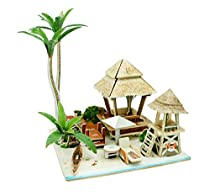 Robotime Wooden Miniature House DIY Craft Kits Toy for Boys and Girls (Singapore Chinatown)