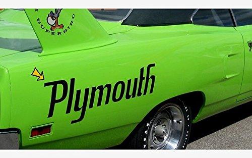 (1970 Plymouth Superbird Quarter Panel Name Decals SET - 9.5