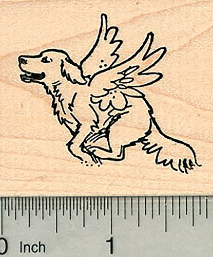 Dog Angel Rubber Stamp, Labrador Retriever, Pet Loss