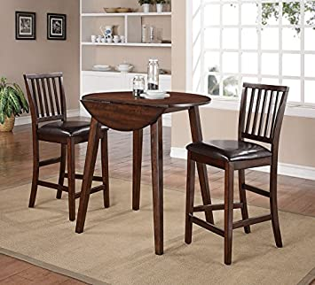 Kiwi 3-Piece Drop Leaf Counter Height Set