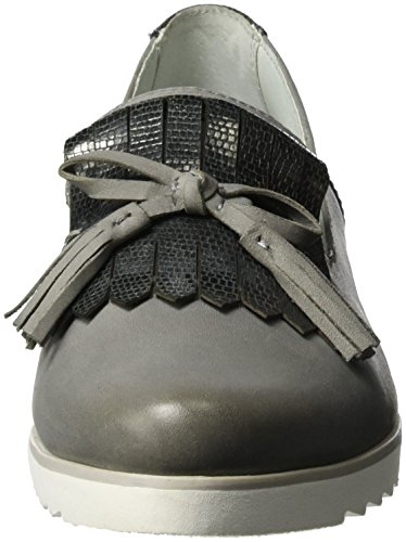 Be Natural 24202, Mocasines para Mujer Gris (Lt. Grey 204)