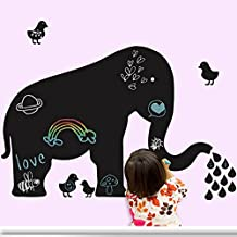 Elephant Chicken Black Writing Board Vinyl Wall Decal PVC Home Sticker House Paper Decoration WallPaper Living Room Bedroom Kitchen Art Picture DIY Murals kids Nursery Baby Decor