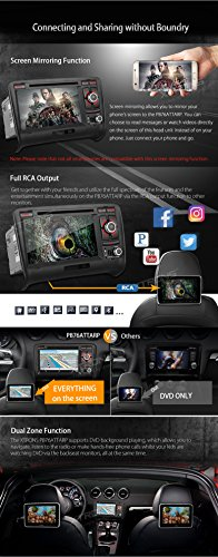 XTRONS 7 Inch Android 6.0 Octa-Core Capacitive Touch Screen Car Stereo Radio DVD Player GPS CANbus Screen Mirroring Function OBD2 Tire Pressure Monitoring for Audi TT MK2 by XTRONS (Image #5)