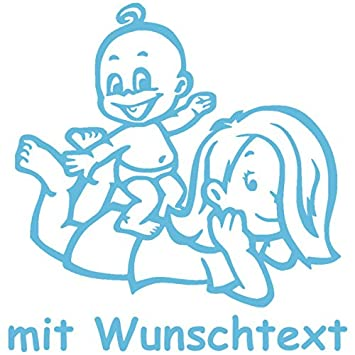 Babyaufkleber Autoaufkleber Für Geschwister Mit Wunschtext Motiv G7 Mj 16 Cm Baby