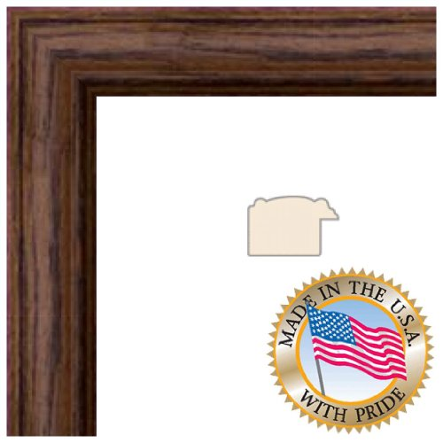 11x14 Walnut Stain on Solid Red Oak Picture Frame - 1.25'' wide with Regular Glass and Foam Backing